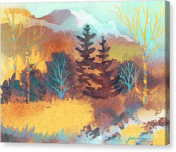Golden Forest Canvas Print by Joan A Hamilton