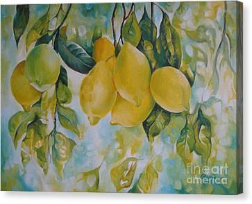Golden Fruit Canvas Print