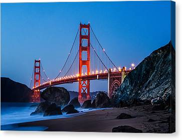 Golden Gate At Twilight Canvas Print