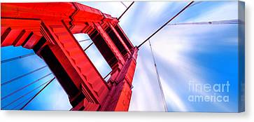 Golden Gate Boom Canvas Print by Az Jackson