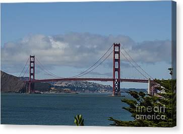 Golden Gate Bridge 2 Canvas Print by Judy Wolinsky