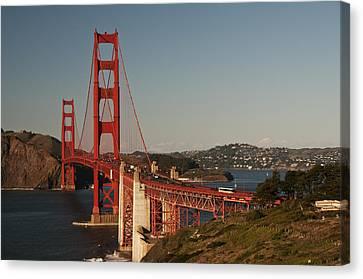 Canvas Print featuring the photograph Golden Gate Bridge 2 by Lee Kirchhevel