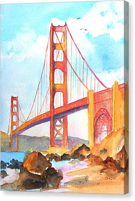 Golden Gate Bridge 3 Canvas Print by Carlin Blahnik