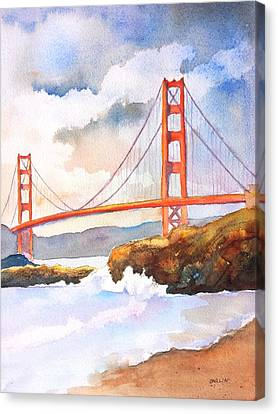 Golden Gate Bridge 4 Canvas Print by Carlin Blahnik