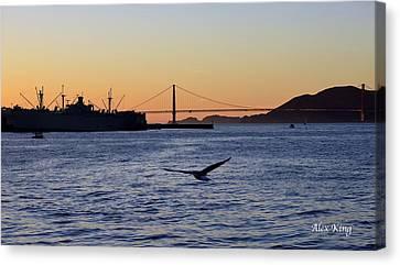 Canvas Print featuring the photograph Golden Gate Bridge by Alex King