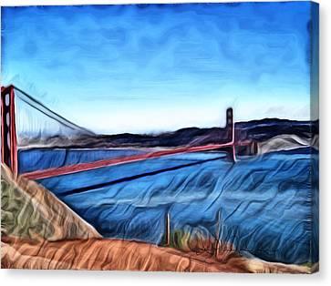 Windy Day At Golden Gate Bridge Canvas Print