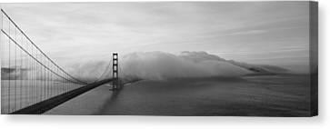 Golden Gate Bridge And Fog San Canvas Print