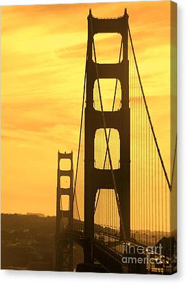 Canvas Print featuring the photograph Golden Gate Bridge  by Clare Bevan