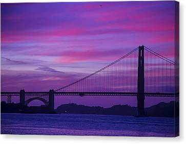 Golden Gate Bridge At Twilight Canvas Print by Garry Gay