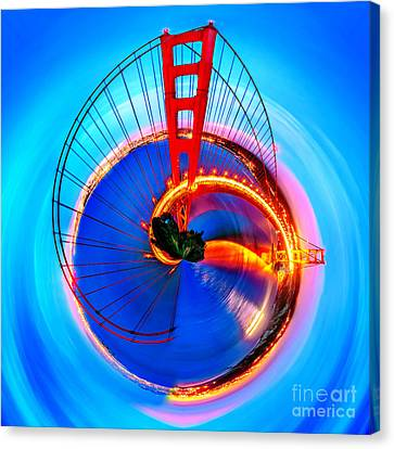 Golden Gate Bridge Circagraph Canvas Print by Az Jackson
