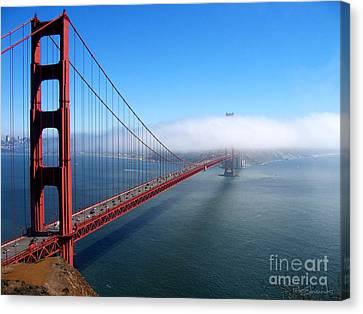 Sausalito Canvas Print - Golden Gate Bridge - Into The Mist by Pete Edmunds