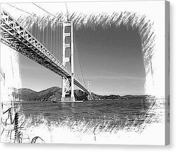 Canvas Print featuring the photograph Golden Gate Bridge by Kathy Churchman
