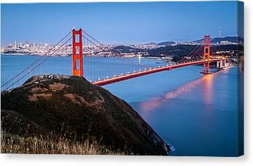 Canvas Print featuring the photograph Golden Gate Bridge by Mihai Andritoiu