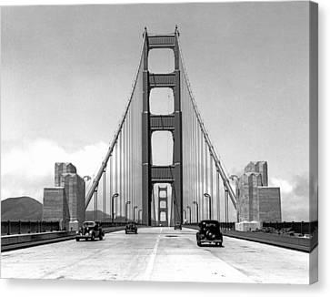 Built Canvas Print - Golden Gate Bridge Preview by Underwood Archives