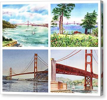 Golden Gate Bridge San Francisco California Canvas Print by Irina Sztukowski