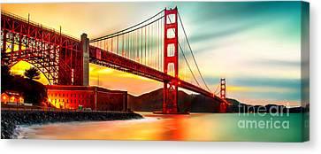 Golden Gate Sunset Canvas Print by Az Jackson