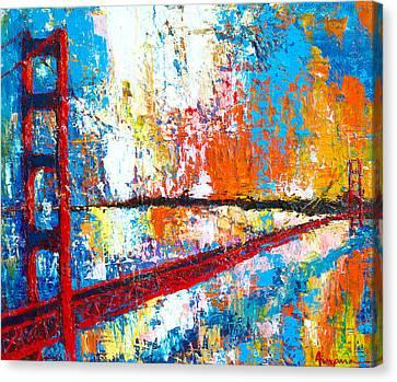 Unique Structure Canvas Print - Golden Gate Bridge San Francisco by Patricia Awapara