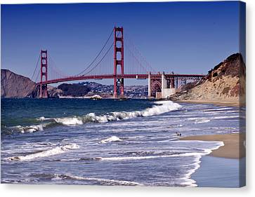 Golden Gate Bridge - Seen From Baker Beach Canvas Print