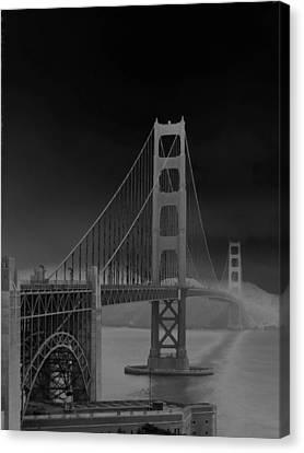 Golden Gate Bridge To Sausalito Canvas Print by Connie Fox