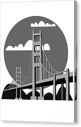 Golden Gate Bridge - Vector Canvas Print by Michal Boubin