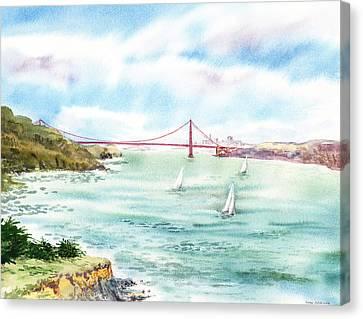 Golden Gate Bridge View From Point Bonita Canvas Print by Irina Sztukowski