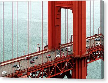 Canvas Print featuring the photograph Golden Gate Bridge by Yue Wang