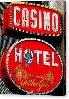 Golden Gate Casino Hotel Canvas Print by Randall Weidner