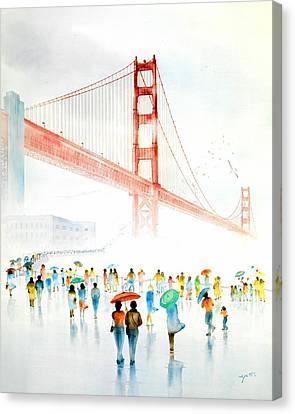 Golden Gate Celebration Canvas Print by John YATO