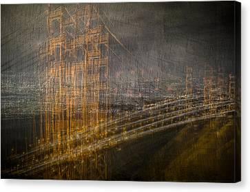 Golden Gate Chaos Canvas Print
