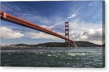 Golden Gate Currents Canvas Print by Hugh Stickney