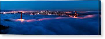 Dark Clouds Canvas Print - Golden Gate by Francesco Emanuele Carucci