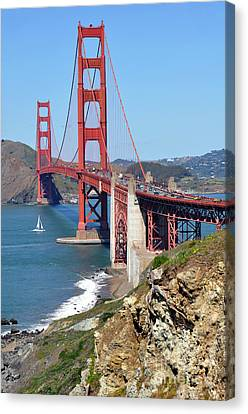 Golden Gate Canvas Print by Gina Savage