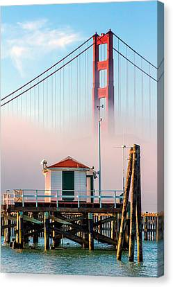 Golden Gate In The Fog II Canvas Print