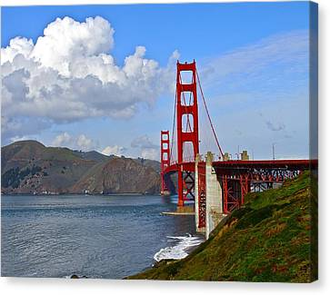 Autum Abstract Canvas Print - Golden Gate by Michael Blesius