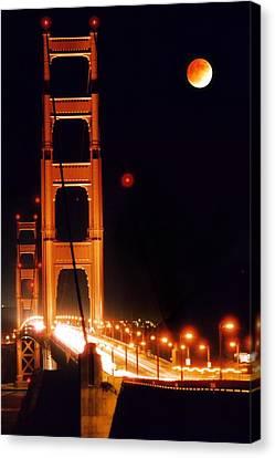 Golden Gate Night Canvas Print by DJ Florek