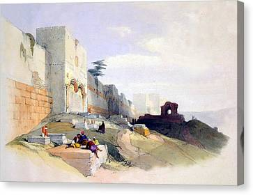 Golden Gate Of The Temple Canvas Print by Munir Alawi