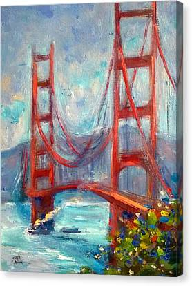 Golden Gate Oil Sketch Canvas Print