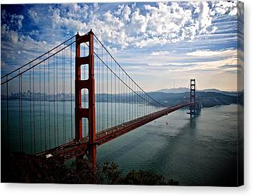 Golden Gate Open Canvas Print by Eric Tressler