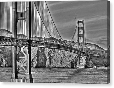 Golden Gate Over The Bay 2 Canvas Print