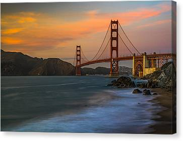 Golden Gate Canvas Print by Peter Irwindale
