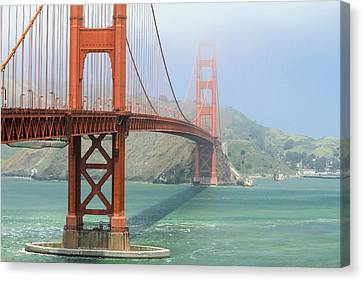 Canvas Print featuring the photograph Golden Gate by Steven Bateson