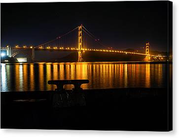 Canvas Print featuring the photograph Golden Gate by Steven Reed