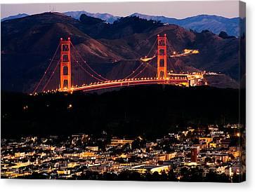 Golden Gate Sunrise Canvas Print