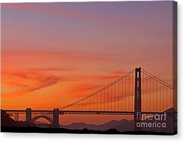 Golden Gate Sunset Canvas Print