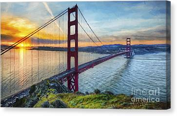 Golden Gate Canvas Print by Veikko Suikkanen