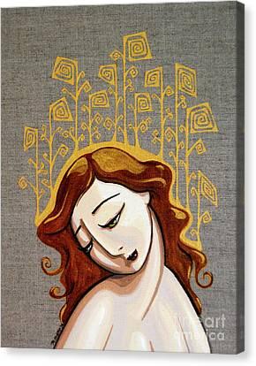 Golden Girl Canvas Print by Rebecca Mott