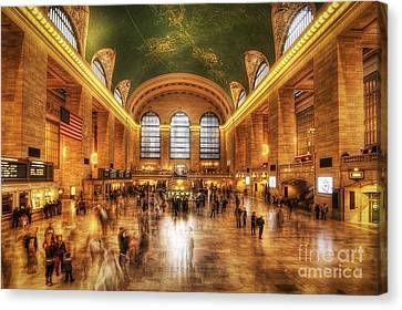 Golden Grand Central Canvas Print