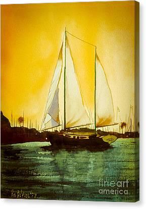Golden Harbor  Canvas Print by Kip DeVore