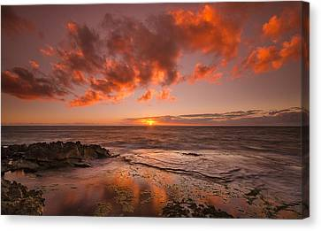 Golden Hawaii Sunset  Canvas Print by Tin Lung Chao