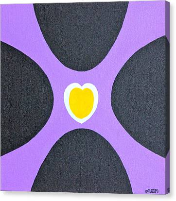Golden Heart Canvas Print by Lorna Maza
